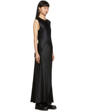 photo Black Keyhole Dress by Ann Demeulemeester - Image 2