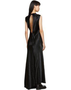 photo Black Keyhole Dress by Ann Demeulemeester - Image 3