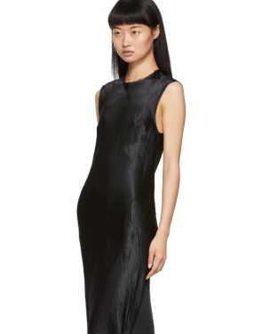 photo Black Keyhole Dress by Ann Demeulemeester - Image 4