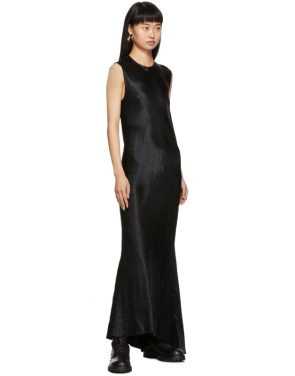 photo Black Keyhole Dress by Ann Demeulemeester - Image 5