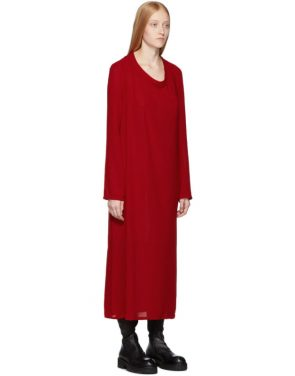photo Red Pallas Dress by Ann Demeulemeester - Image 2