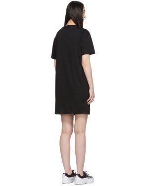 photo Black Logo T-Shirt Dress by Kenzo - Image 3