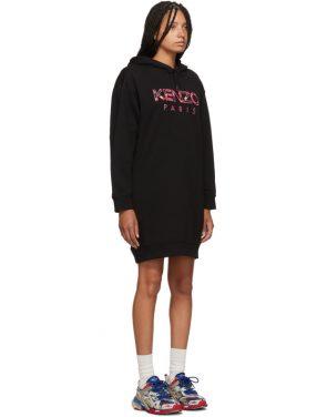 photo Black Paris Peony Sweatshirt Dress by Kenzo - Image 2