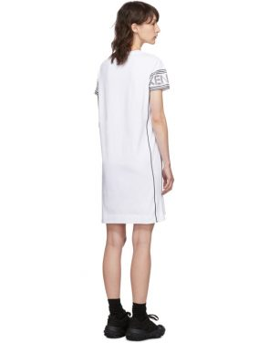 photo White Short Logo Sport T-Shirt Dress by Kenzo - Image 3