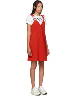 photo Red T-Shirt Mini Dress by Kenzo - Image 2
