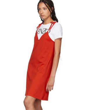 photo Red T-Shirt Mini Dress by Kenzo - Image 4