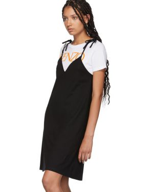 photo Black T-Shirt Mini Dress by Kenzo - Image 4