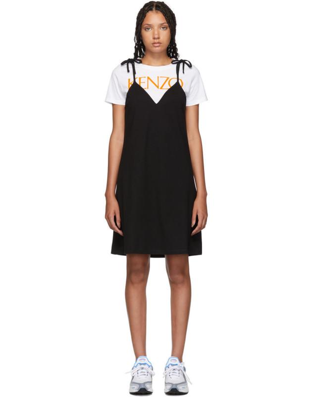 photo Black T-Shirt Mini Dress by Kenzo - Image 1