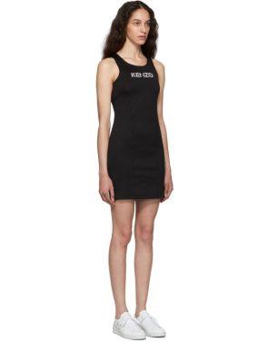 photo Black Sport Logo Bodycon Tank Dress by Kenzo - Image 2