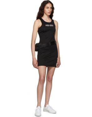photo Black Sport Logo Bodycon Tank Dress by Kenzo - Image 5