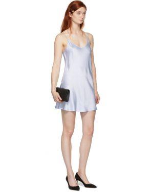 photo Blue Silk Short Slip Dress by La Perla - Image 5