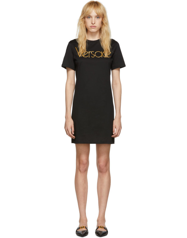 photo Black Logo Dress by Versace - Image 1