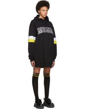 photo Black Oversized Logo Short Dress by MSGM - Image 2