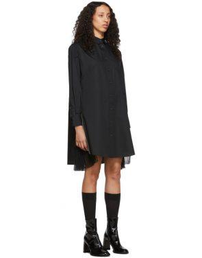 photo Black Poplin Zip Dress by Sacai - Image 2