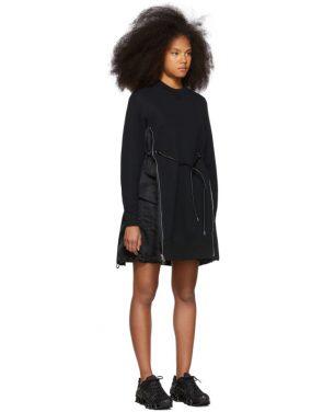 photo Black Spongy Sweatshirt Dress by Sacai - Image 2