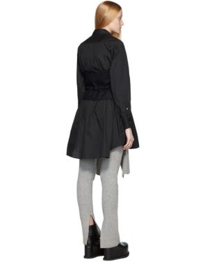 photo Black Poplin Shirt Dress by Sacai - Image 3