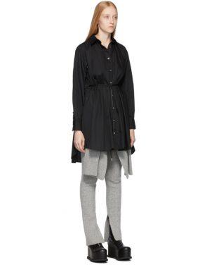 photo Black Poplin Shirt Dress by Sacai - Image 4