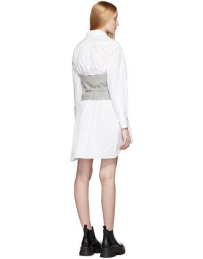 photo White and Grey Poplin Shirt Dress by Sacai - Image 3