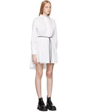 photo White and Grey Poplin Shirt Dress by Sacai - Image 4