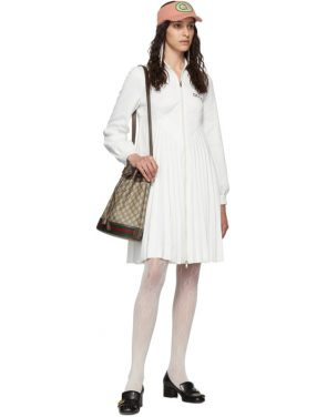 photo White Pleated Tennis Dress by Gucci - Image 5