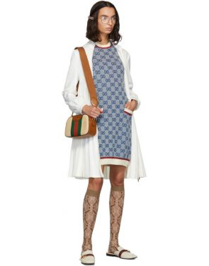 photo Blue Knit GG Dress by Gucci - Image 5