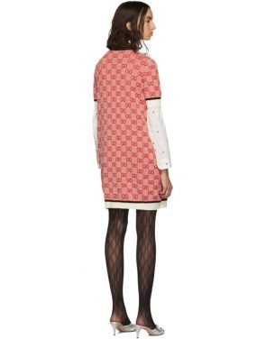photo Red Knit GG Dress by Gucci - Image 3