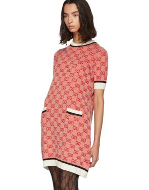 photo Red Knit GG Dress by Gucci - Image 4