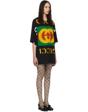 photo Black Oversized T-Shirt Dress by Gucci - Image 2