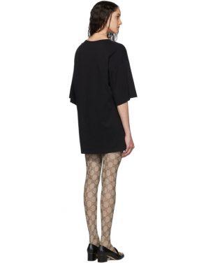 photo Black Oversized T-Shirt Dress by Gucci - Image 3