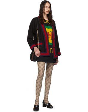 photo Black Oversized T-Shirt Dress by Gucci - Image 5