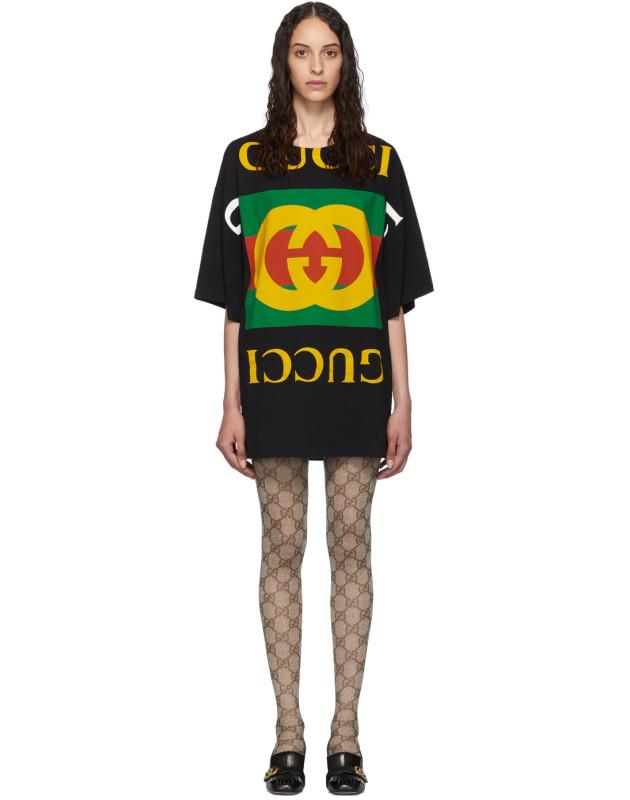 photo Black Oversized T-Shirt Dress by Gucci - Image 1