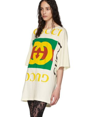 photo Off-White Oversized T-Shirt Dress by Gucci - Image 4