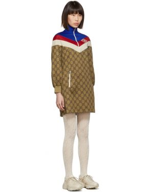 photo Beige GG Logo Dress by Gucci - Image 2