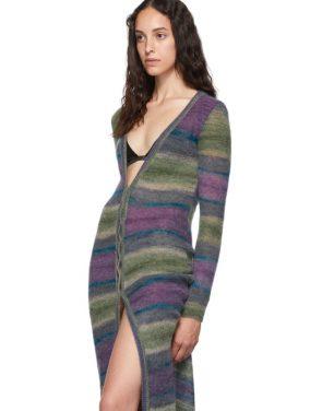 photo Purple Stripe La Robe Gilet Dress by Jacquemus - Image 4