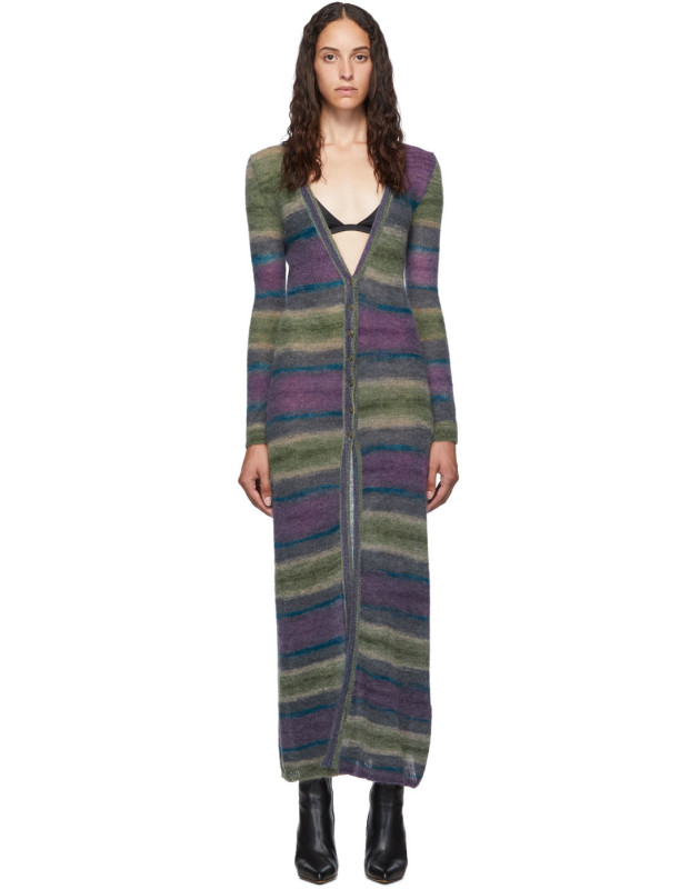 photo Purple Stripe La Robe Gilet Dress by Jacquemus - Image 1