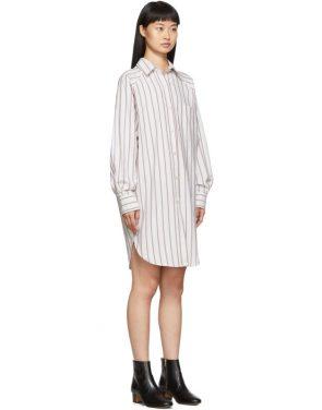 photo Burgundy and White Sanders Dress by Isabel Marant Etoile - Image 2