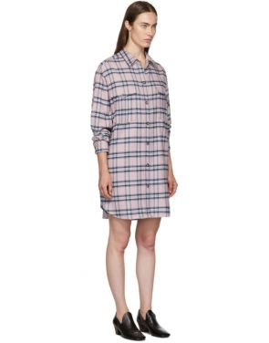 photo Pink and Blue Check Iceo Pilou Dress by Isabel Marant Etoile - Image 2