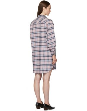 photo Pink and Blue Check Iceo Pilou Dress by Isabel Marant Etoile - Image 3