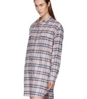 photo Pink and Blue Check Iceo Pilou Dress by Isabel Marant Etoile - Image 4