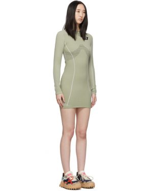 photo Green Athletic Long Sleeve Dress by Off-White - Image 2