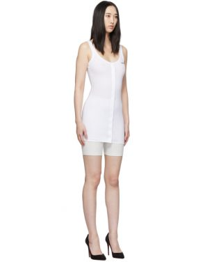 photo White Buttoned Up Mini Dress by Off-White - Image 2