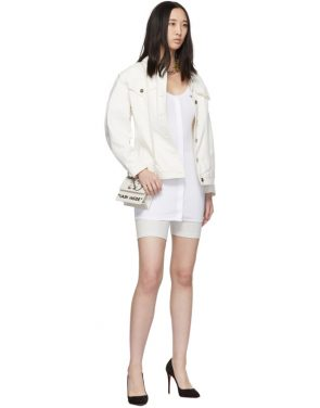 photo White Buttoned Up Mini Dress by Off-White - Image 5