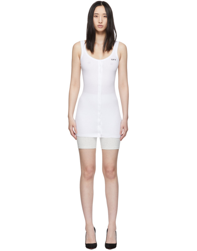 photo White Buttoned Up Mini Dress by Off-White - Image 1
