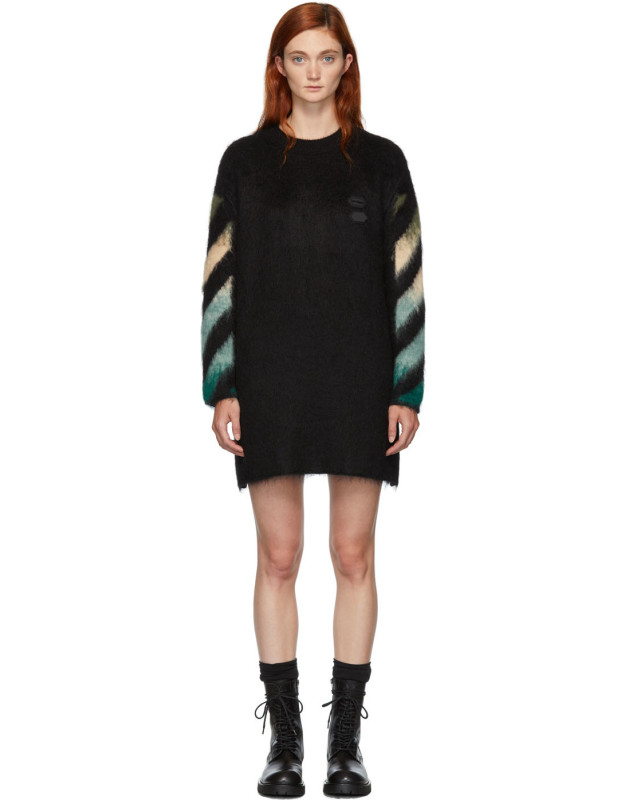 photo Black and Blue Arrows Dress by Off-White - Image 1