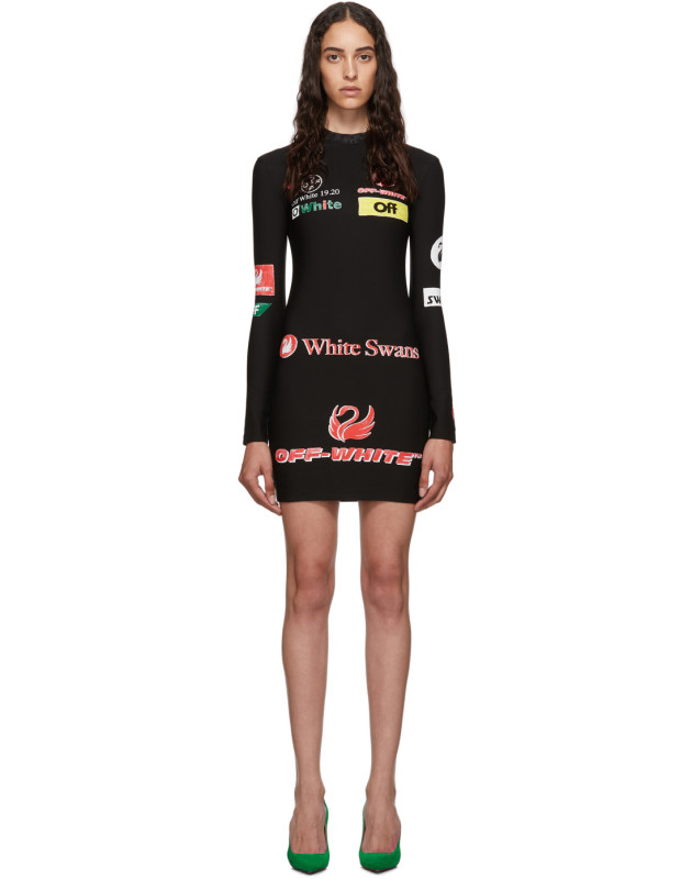 photo Black Multilogo Sporty Dress by Off-White - Image 1