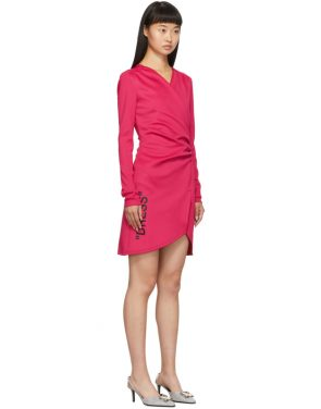 photo Pink Side Opening Mini Dress by Off-White - Image 2