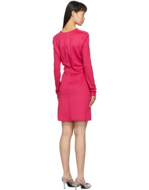 photo Pink Side Opening Mini Dress by Off-White - Image 3