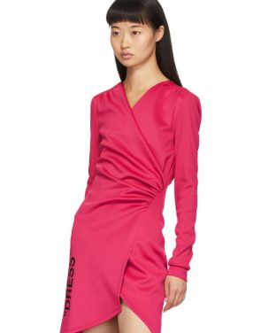 photo Pink Side Opening Mini Dress by Off-White - Image 4
