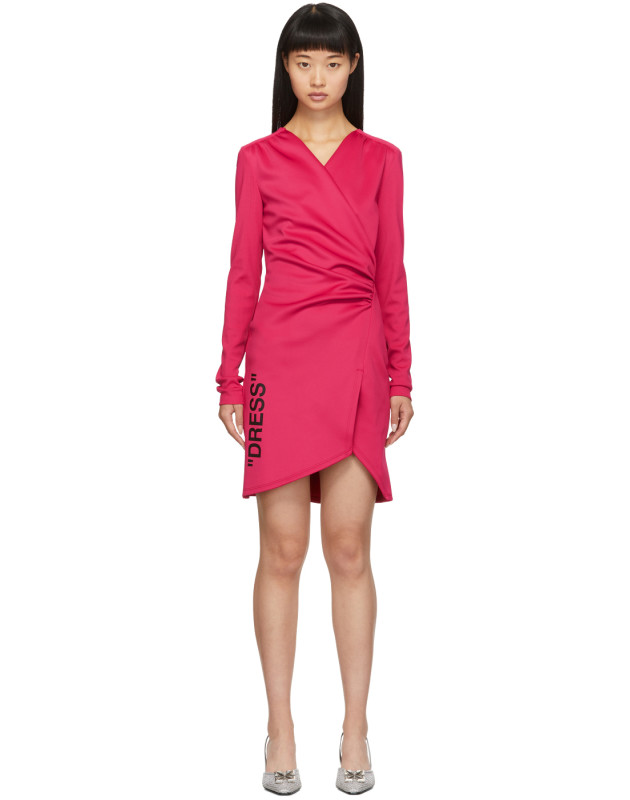 photo Pink Side Opening Mini Dress by Off-White - Image 1