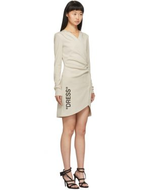 photo Beige Side Opening Mini Dress by Off-White - Image 2